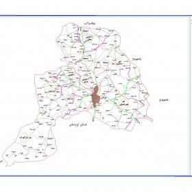 نقشه شهرستان بوکان - آذربایجان غربی - فایل اتوکدی و PDF