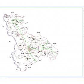نقشه شهرستان چالدران - آذربایجان غربی - فایل اتوکدی و PDF
