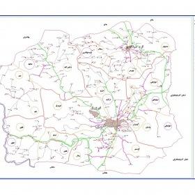 نقشه شهرستان خوی - آذربایجان غربی - فایل اتوکدی و PDF