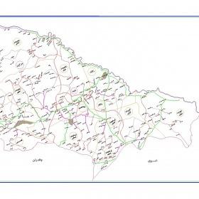 نقشه شهرستان ماکو - آذربایجان غربی - فایل اتوکدی و PDF