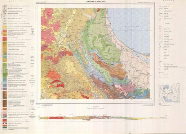 دانلود نقشه زمین شناسی منطقه بندر انزلی در استان گیلان در قالب فایل PDF