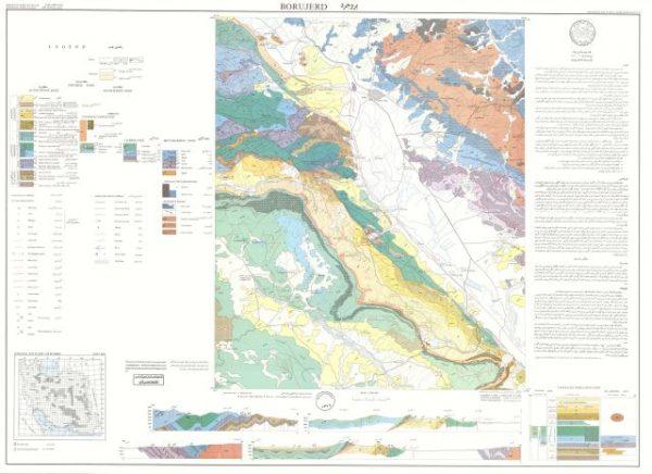 دانلود نقشه زمین شناسی منطقه بروجرد در استان لرستان در قالب فایل PDF
