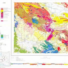 دانلود نقشه زمین شناسی منطقه قم در قالب فایل PDF