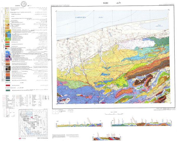 دانلود نقشه زمین شناسی منطقه ساری در استان مازندران