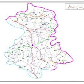 دانلود نقشه اتوکدی شهرستان بیجار