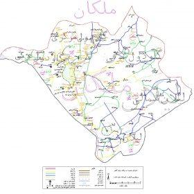 دانلود نقشه اتوکدی شهرستان ملکان