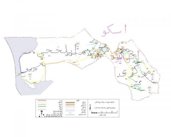 دانلود نقشه اتوکدی شهرستان اسکو