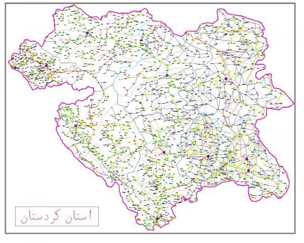 دانلود نقشه اتوکدی استان کردستان