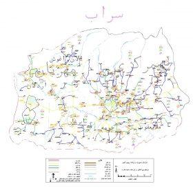 دانلود نقشه اتوکدی شهرستان سراب