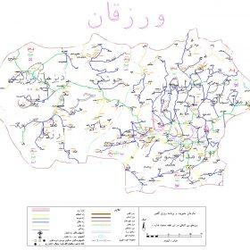 دانلود نقشه اتوکدی شهرستان ورزقان