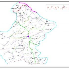 دانلود نقشه اتوکدی شهرستان دیواندره