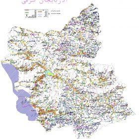 دانلود نقشه اتوکدی استان آذربایجان شرقی