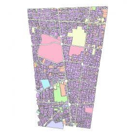 دانلود شیپ فایل GIS کاربری اراضی منطقه یازده تهران