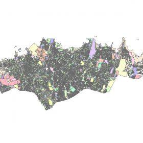دانلود شیپ فایل GIS کاربری اراضی منطقه یک تهران