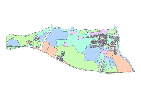 دانلود شیپ فایل GIS کاربری اراضی منطقه بیست و دو تهران