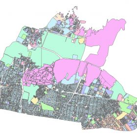 دانلود شیپ فایل GIS کاربری اراضی منطقه چهار تهران