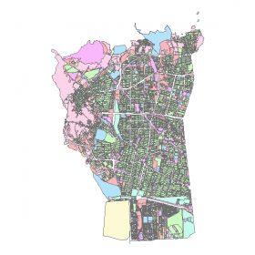 دانلود شیپ فایل GIS کاربری اراضی منطقه پنج تهران