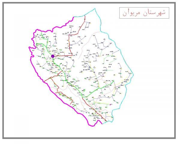 دانلود نقشه اتوکدی شهرستان مریوان
