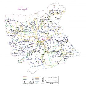 دانلود نقشه اتوکدی شهرستان میانه