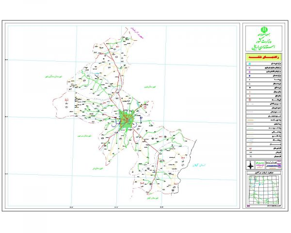 دانلود نقشه اتوکدی شهرستان اردبیل