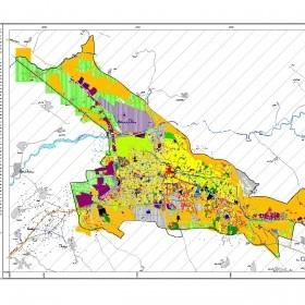 دانلود نقشه اتوکدی کاربری اراضی وضع موجود کل شهر تبریز