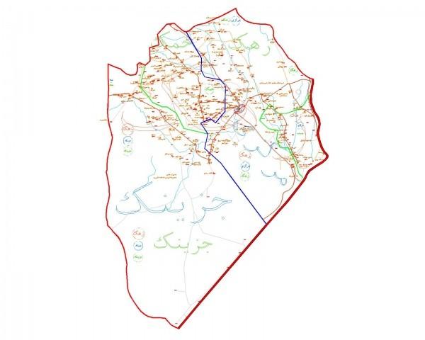 دانلود نقشه اتوکدی شهرستان زهک