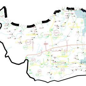 دانلود نقشه اتوکدی شهرستان آستارا - استان گیلان