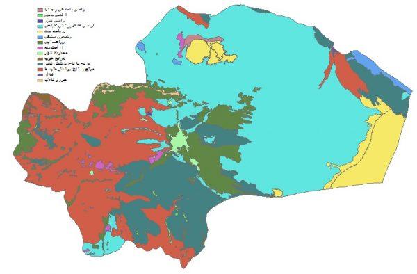 دانلود شیپ فایل GIS کاربری اراضی استان قم