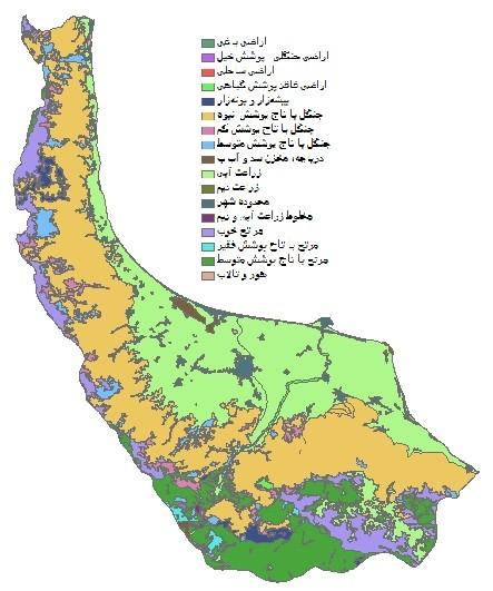 دانلود شیپ فایل GIS کاربری اراضی استان گیلان