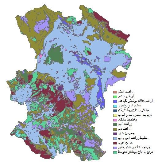 دانلود شیپ فایل GIS کاربری اراضی استان همدان