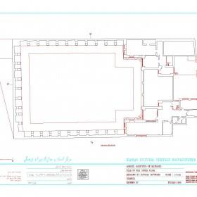 دانلود نقشه اتوکدی پلان حسینیه مجتهد اردبیلی