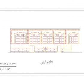دانلود نقشه اتوکدی خانه تاریخی کهنمویی تبریز