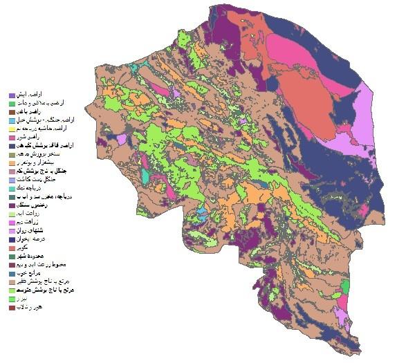 دانلود شیپ فایل GIS کاربری اراضی استان کرمان