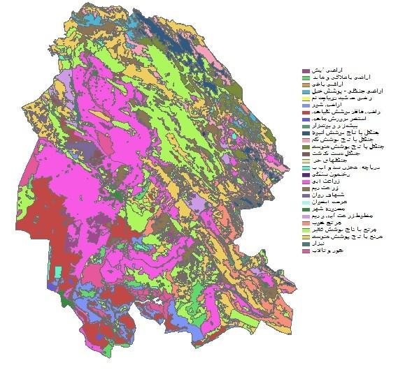 دانلود شیپ فایل GIS کاربری اراضی استان خوزستان