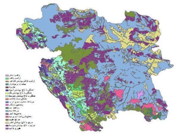 دانلود شیپ فایل GIS کاربری اراضی استان کردستان