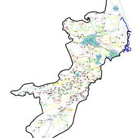 دانلود نقشه اتوکدی شهرستان لنگرود - استان گیلان