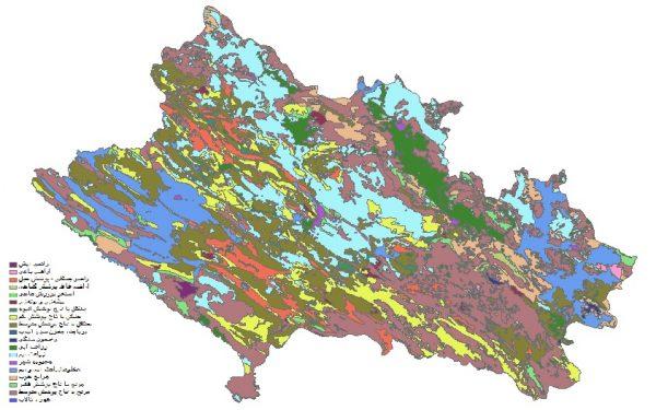 دانلود شیپ فایل GIS کاربری اراضی استان لرستان