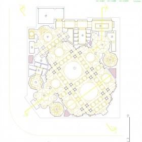 دانلود نقشه اتوکدی پلان و نمای مسجد عالی قاپو اردبیل