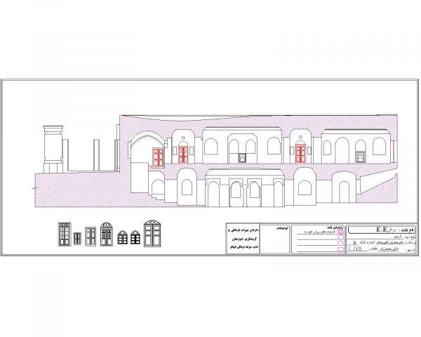 دانلود نقشه اتوکدی خانه تاریخی مستوفی شوشتر