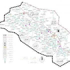 دانلود نقشه اتوکدی شهرستان نهاوند - استان همدان