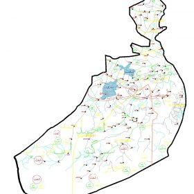 دانلود نقشه اتوکدی شهرستان شفت - استان گیلان