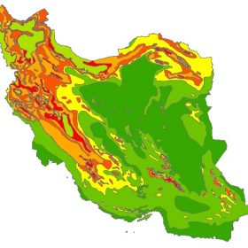 دانلود شیپ فایل GIS طبقه بندی اقلیم ایران
