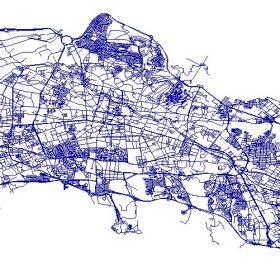 دانلود شیپ فایل GIS شبکه معابر شهر تبریز