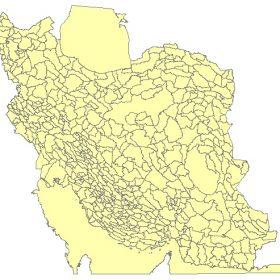دانلود شیپ فایل GIS دشتهای ایران به صورت پلیگون