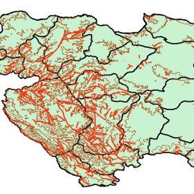 دانلود شیپ فایل GIS عوارض طبیعی و مصنوع استان کردستان