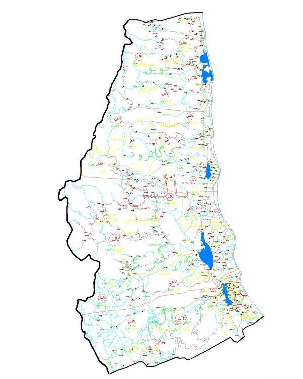 دانلود نقشه اتوکدی شهرستان تالش - استان گیلان