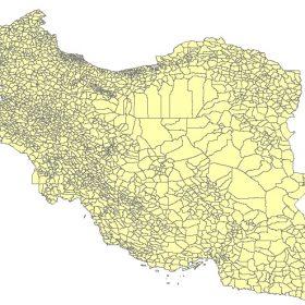 دانلود شیپ فایل GIS دهستان های کل کشور