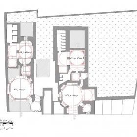 دانلود نقشه اتوکدی حمام تاریخی ملاهادی اردبیل