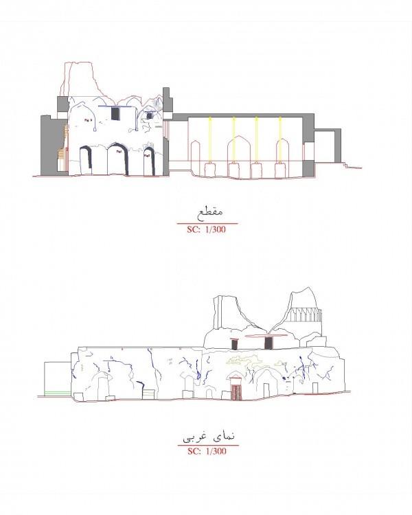 دانلود نقشه اتوکدی مسجد تاریخی جمعه مسجد اردبیل