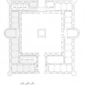 دانلود نقشه اتوکدی کاروانسرای تاریخی قانلی بلاغ مشگین شهر-اردبیل